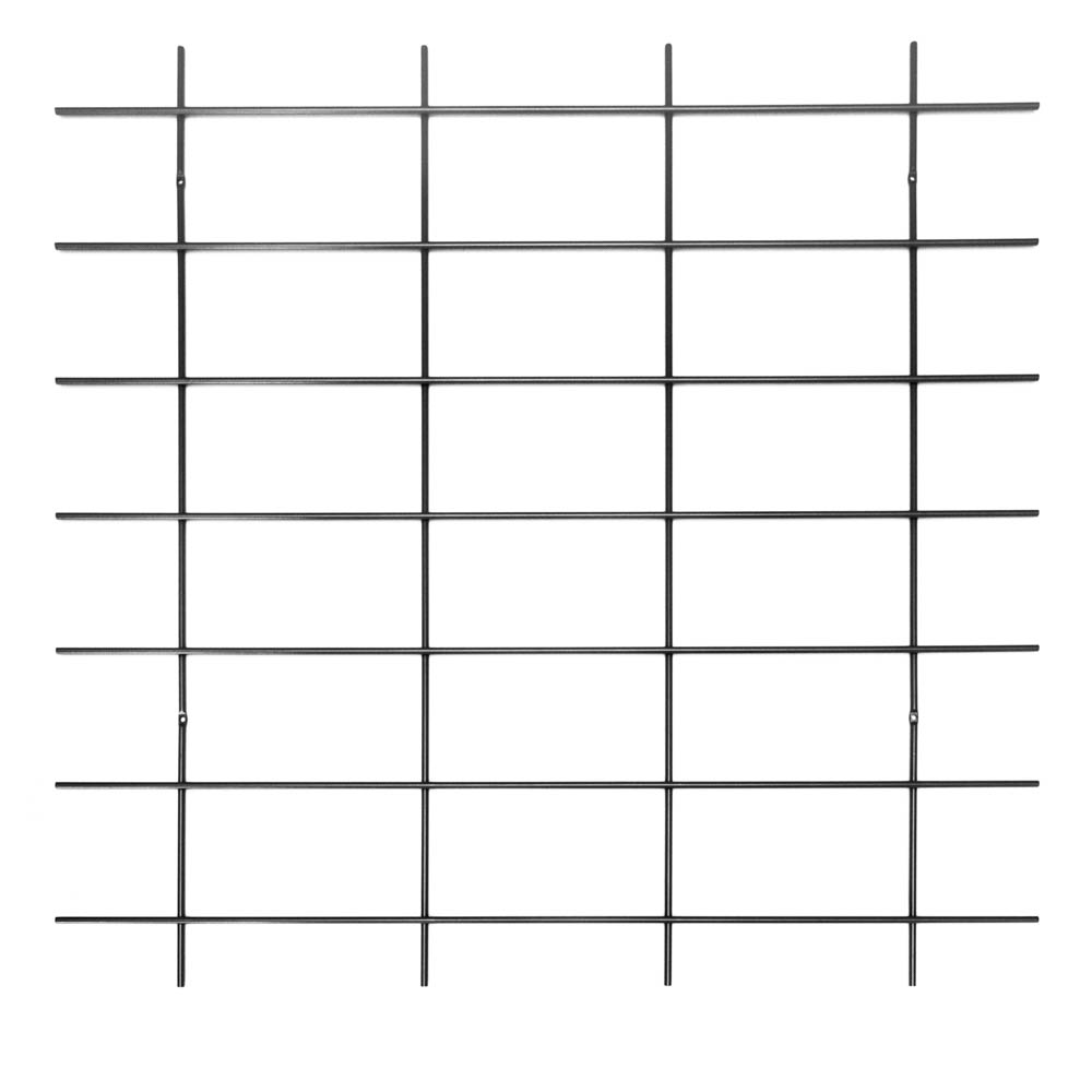base murale grille noire étagères Gassien grand format